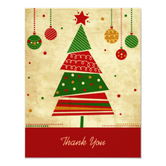 Vintage Style Holiday Thank You Card