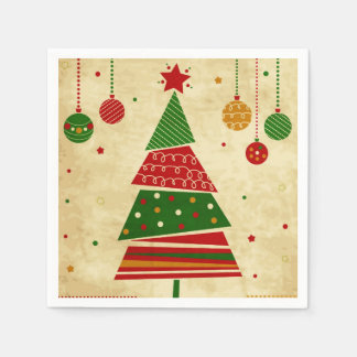 Vintage Style Holiday Wedding Paper Napkins
