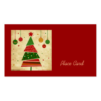 Vintage Style Holiday Wedding Place Cards Business Card Templates