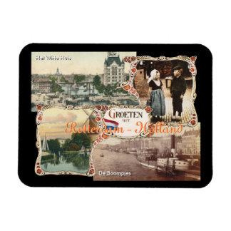 Vintage style Holland Old Rotterdam Rectangular Photo Magnet