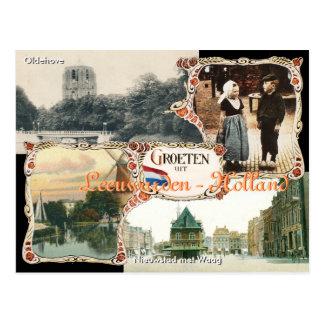 Vintage style Holland Postcard Leeuwarden