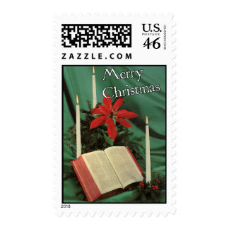 Vintage-Style Holy Bible Christmas Stamp