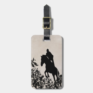 Vintage Style Horse Jumping Luggage Tag