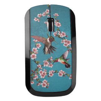 Vintage Style Hummingbird Painting Wireless Mouse