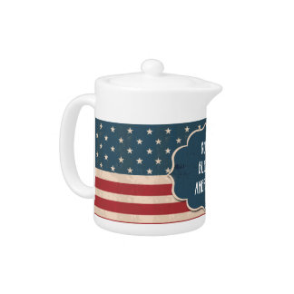 Vintage Style Independence Day Teapot