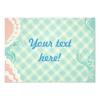 vintage style invitation 13cm x 18cm invitation card