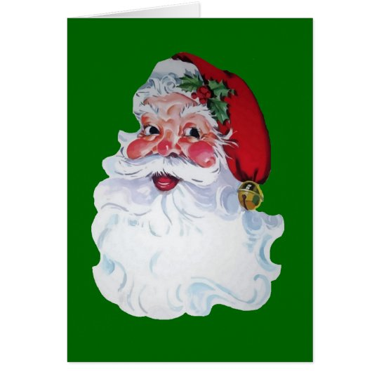 Vintage Style Jolly Santa Card