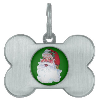 Vintage Style Jolly Santa Pet Tags