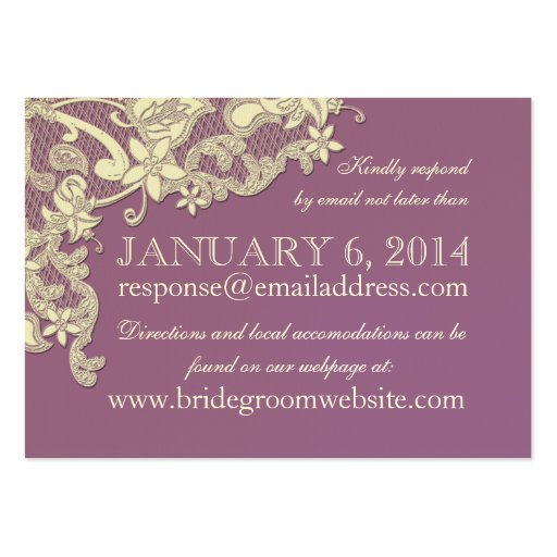 Vintage style lace design insert card business card for Business cards vintage style