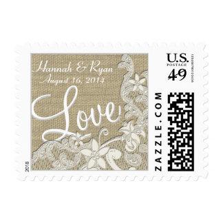 Vintage Style Lace Design Love Stamp