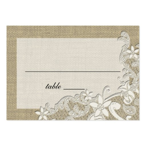 Vintage Style Lace Design place card Business Cards