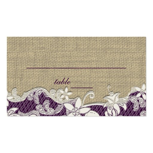 Vintage Style Lace Design place card Business Card Template