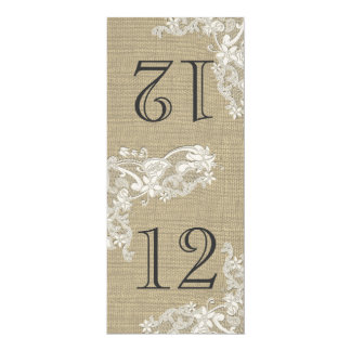 Vintage Style Lace Design Table Number Card