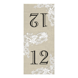 Vintage Style Lace Design Table Number Invites
