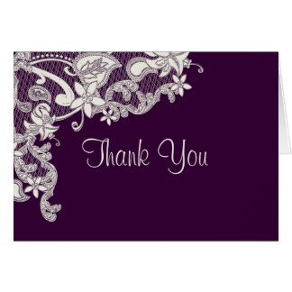 Vintage Style Lace Photo Thank You Card
