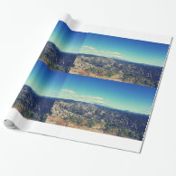 Vintage style landscape photography wrapping paper