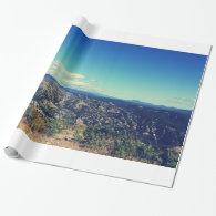 Vintage style landscape photography gift wrap paper