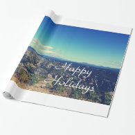 Vintage style landscape photography gift wrapping paper
