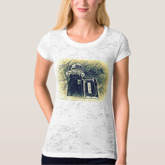 Vintage Style Light House Blow Out Top