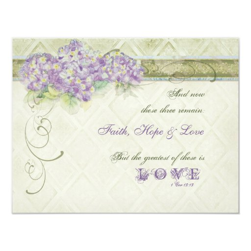 Vintage Style Lilac Hydrangea - Save the Date Card