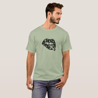 Vintage Style Lips with a Joint, Marijuana T-shirt
