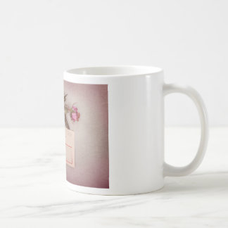 Vintage Style Love Letter written with a red rose Coffee Mug