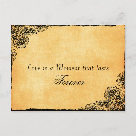 Vintage Style Love Quote Save the Date Announcement Postcard