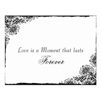 Vintage Style Love Quote Save the Date Postcards