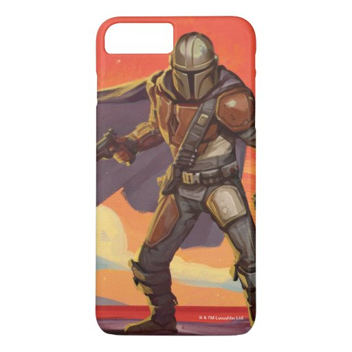 Vintage Style Mandalorian Halftone Art iPhone 8 Plus/7 Plus Case