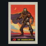 """Vintage Style Mandalorian Halftone Art Poster<br><div class=""""desc"""">Vintage Style Mandalorian Halftone Art   We hope you've come well-prepared because you're now entering the wild outer reaches of the Star Wars universe; welcome to Zazzle's officially licensed store for The Mandalorian! Some years have passed since the fall of the Empire, but order has yet to be fully restored...</div>"""