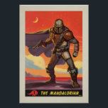 "Vintage Style Mandalorian Halftone Art Poster<br><div class=""desc"">Vintage Style Mandalorian Halftone Art 
