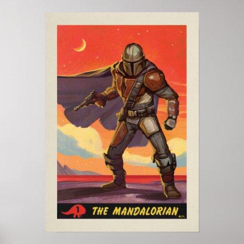 Vintage Style Mandalorian Halftone Art Poster
