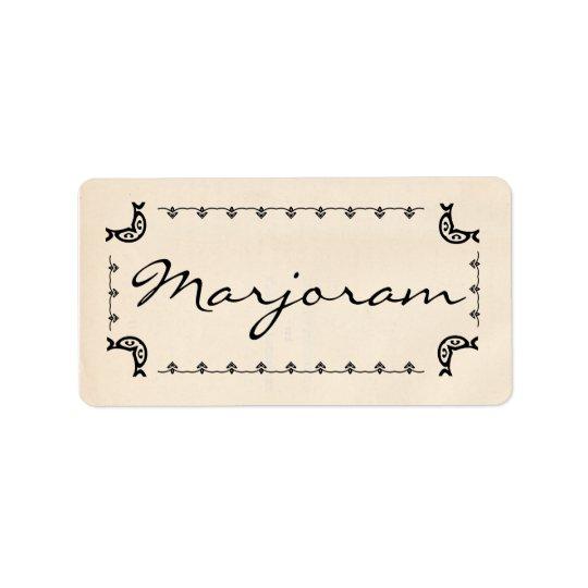 Vintage-Style Marjoram Labels