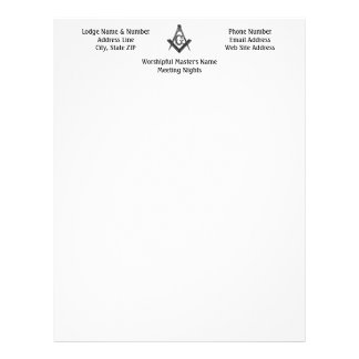Vintage Style Masonic Lodge Letterhead