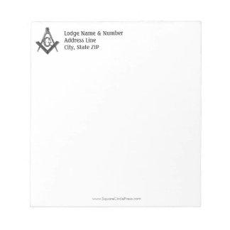 Vintage Style Masonic Lodge Notepad