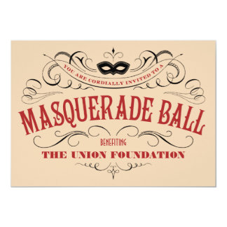 Vintage Style Masquerade Ball Invitations