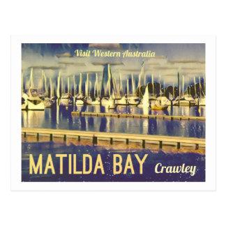 Vintage-style Matilda Bay, West Australia Postcard