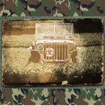 Vintage Style Military Jeep Photo Sculptures
