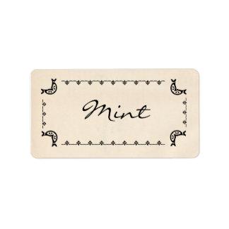 Vintage-Style Mint Labels