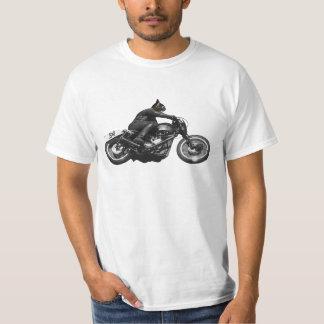 Vintage Style Motor Racing Cat Tshirt