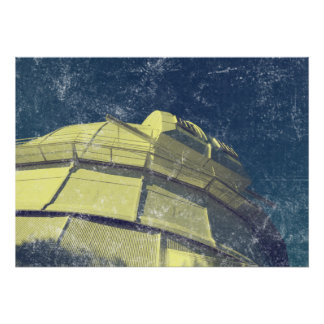 Vintage Style Mt Wilson Observatory Print