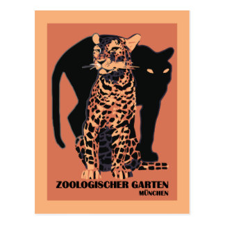 Vintage style Munich Zoo Postcard