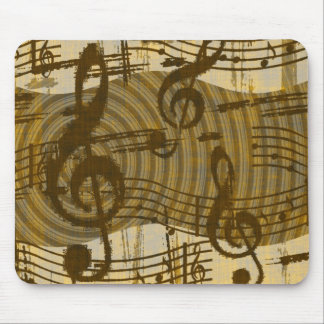 Vintage Style Music Mouse Pad