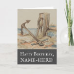 [ Thumbnail: Vintage Style Nautical Themed Birthday Card ]