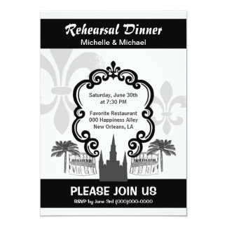 Vintage Style New Orleans Quarter Wedding Event Card