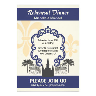 New Orleans Wedding Invitation 76 New Orleans Rehearsal Dinner Invitations New Orleans