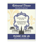 Vintage Style New Orleans Wedding Event Blue Personalized Invitation