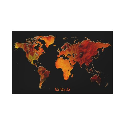 Vintage-style New World Map Art Print Canvas Print