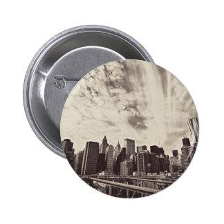 Vintage Style New York City Skyline Pinback Buttons