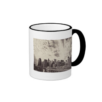 Vintage Style New York City Skyline Coffee Mug